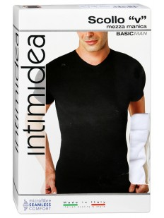 Футболка Intimidea Uomo T-Shirt Scollo V Mezza Manica