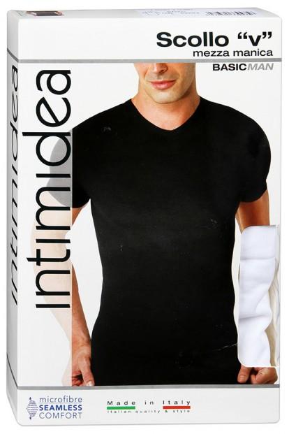 Мужская футболка Intimidea Uomo T-Shirt Scollo V Mezza Manica - фото 1