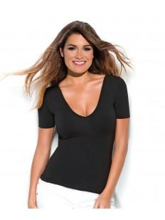 Женская бесшовная футболка с глубоким вырезом INTIMEDIA