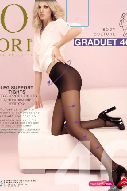 Матовые поддерживающие колготки ORI GRADUET 40 - фото 1