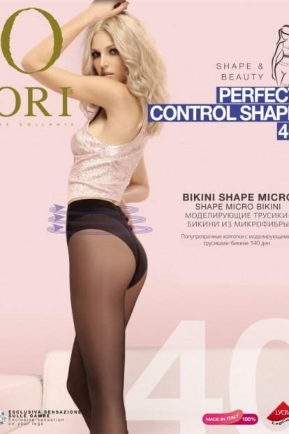 Матовые утягивающие колготки с трусиками ORI PERFECT CONTROL SHAPE 40 - фото 1