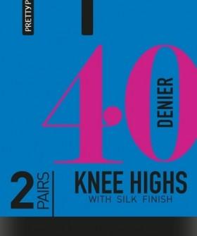 Гольфы Pretty Polly 40 den knee high 2PP/ERQ6