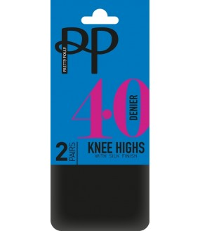 Гольфы Pretty Polly 40 den knee high 2PP/ERQ6