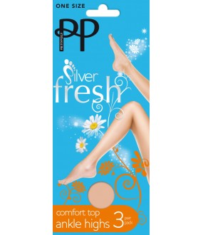 Носки Pretty Polly Silver fresh ankle highs 3PP/GZ14