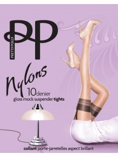 Колготки Pretty Polly Nylons 10 den Gloss Mock Suspender/Arl9