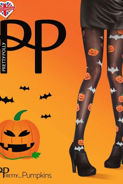 Цветные колготки с тыквами на Хеллоуин Pretty Polly PUMPKINS AUN8
