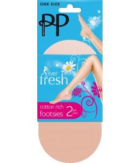 Подследники Pretty Polly Fresh Cotton rich Footsie 2PP/EL66