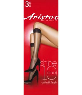 Гольфы Aristoc Shine 10 den knee highs 3PP/GAH6
