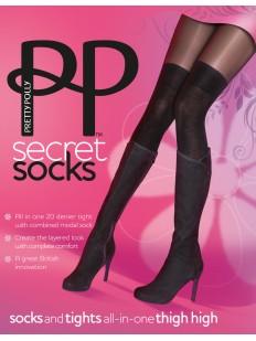 Колготки с имитацией Pretty Polly Secret Socks