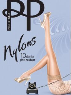 Тонкие чулки Pretty Polly Nylons 10 den gloss hold ups