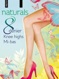 Гольфы Pretty Polly Naturals 8 den knee highs 2PP/EF24