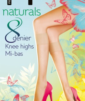 Гольфы Pretty Polly Naturals 8 den knee highs 2PP/EF24