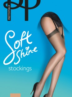 Чулки под пояс Pretty Polly Soft shine 15 den stockings