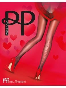 Колготки с сердечками и стразами Pretty Polly SMITTEN HEARTS BACK