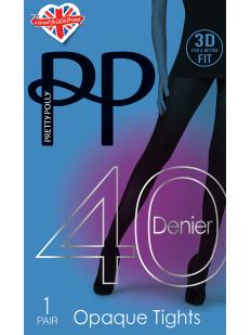 Классические матовые колготки 40 ден Pretty Polly 3D OPAQUE