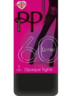 Классические матовые колготки 60 ден Pretty Polly 3D OPAQUE