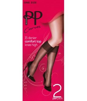 Гольфы Pretty Polly Curves 15 den knee high 2PP/EQX5