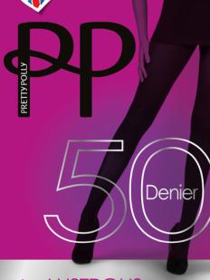 Блестящие плотные женские колготки 50 ден без шортиков