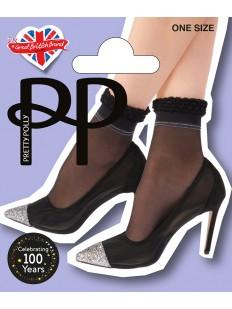 Женские стильные нейлоновые носки с рюшами и блестящими полосками