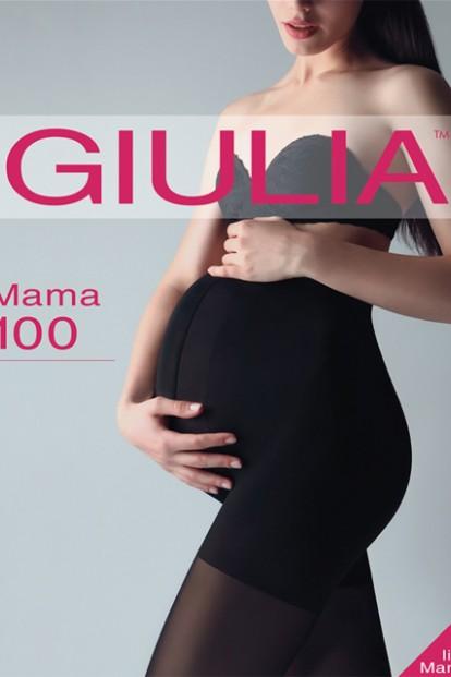 Теплые матовые колготки для беременных Giulia MAMA 100 - фото 1