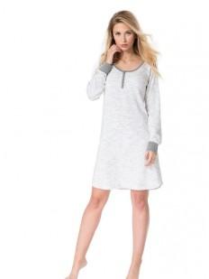 Женская хлопковая ночная сорочка с длинным рукавом Rossli