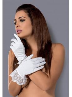 Белые перчатки со снежинками Obsessive Etheria Gloves