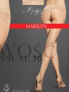 Матовые бесшовные колготки Marilyn SENSUAL 30