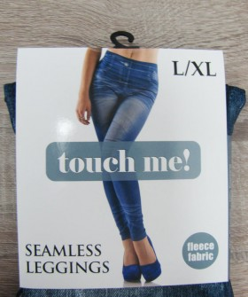 Женские утепленные джинсовые лосины на флисе