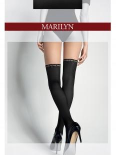 Колготки с имитацией чулок и надписью Marilyn ZAZU FOLLOW ME 60