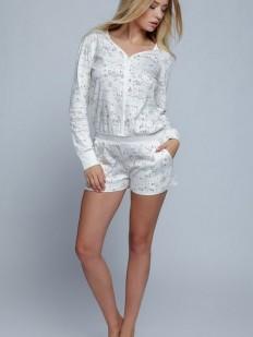 Женская хлопковая пижама комбинезон с шортами