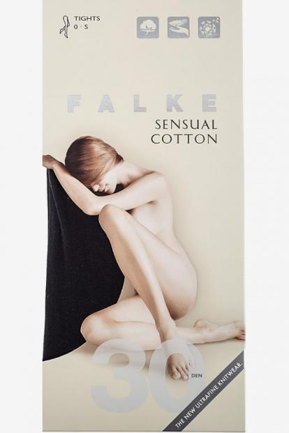 Классические хлопковые колготки Falke SENSUAL COTTON  30 (40085) - фото 1