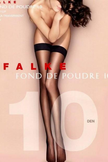 Тонкие чулки с гладкой резинкой и пудровым эффектом FALKE Fond De Poudre 10 Stay-up (41523) - фото 1