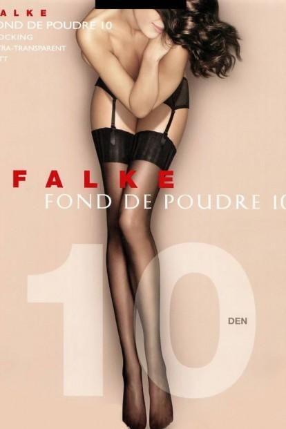 Тонкие чулки под пояс с гладкой резинкой FALKE Fond De Poudre 10 Stocking (41522) - фото 1