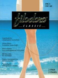 Женские гольфы 2 пары Filodoro Classic Absolute 8 Gambaletto