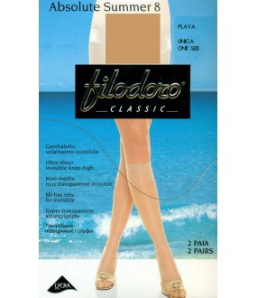 Гольфы FILODORO ABSOLUTE 8 gambaletto, 2 paia