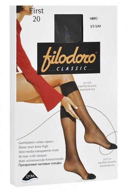 Эластичные женские летние капроновые гольфы Filodoro Classic FIRST 20 gambaletto - фото 1