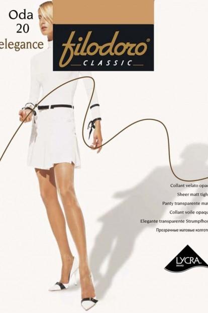 Классические женские колготки с шортиками 20 ден Filodoro Classic ODA Elegance - фото 1