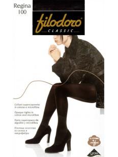 Теплые хлопковые колготки Filodoro Classic REGINA 100 XL