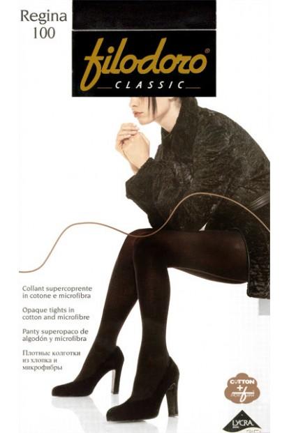 Теплые хлопковые колготки большого размера Filodoro Classic REGINA 100 XL - фото 1