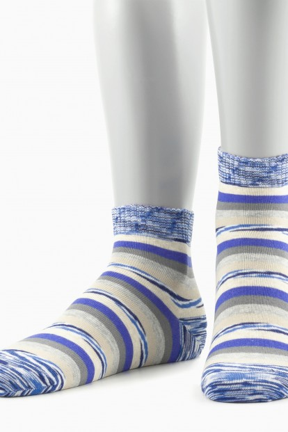 Женские хлопковые носки в полоску GRINSTON 15D28 cotton - фото 1