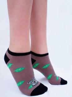Короткие женские цветные носки с енотами