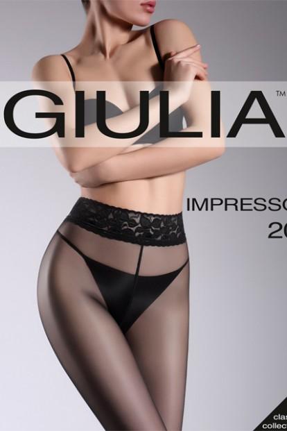 Классические колготки с кружевным поясом Giulia IMPRESSO 20 - фото 1