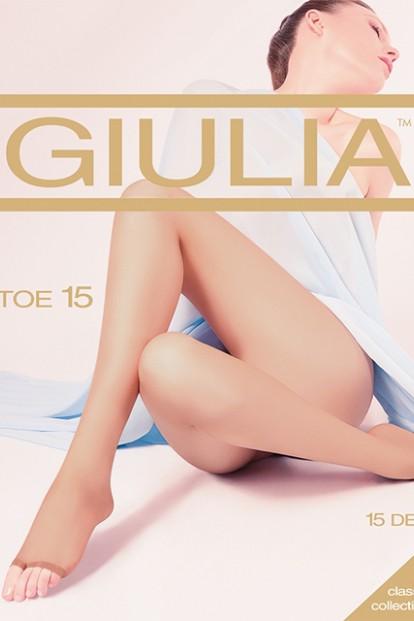 Тонкие колготки без мыска Giulia TOE 15 - фото 1