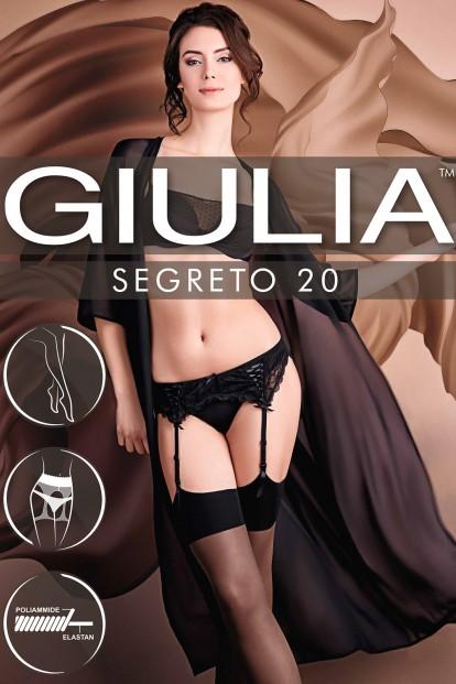 Тонкие шелковистые чулки под пояс с гладкой резинкой Giulia SEGRETO 20 - фото 1