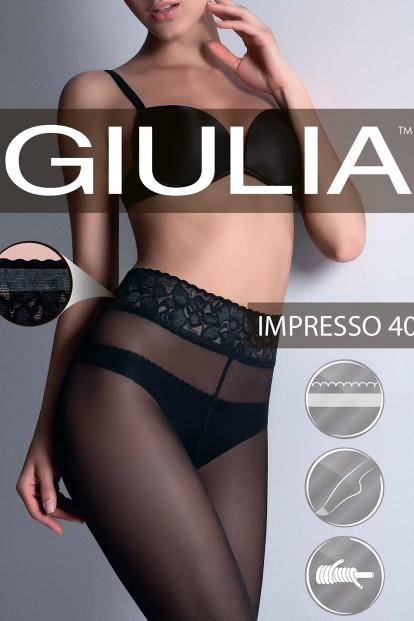 Классические колготки с кружевным поясом Giulia IMPRESSO 40 - фото 1
