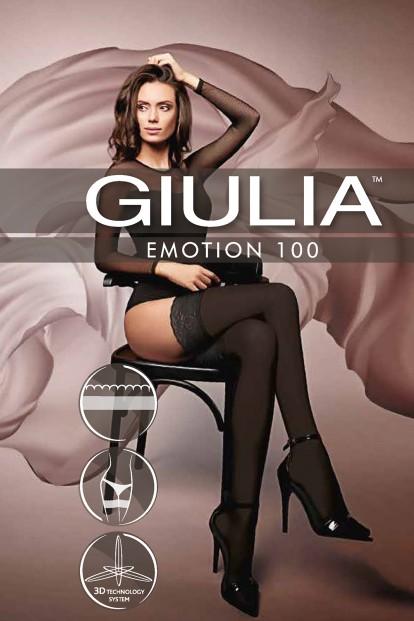 Непрозрачные матовые кружевные чулки Giulia EMOTION 100 - фото 1