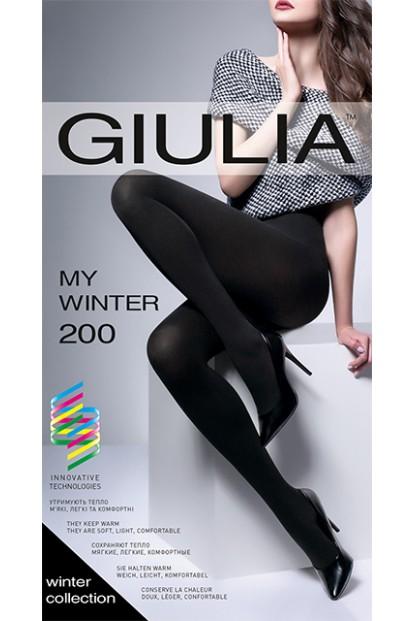 Зимние термо колготки из акрила с вискозкой Giulia MY WINTER 200 - фото 1