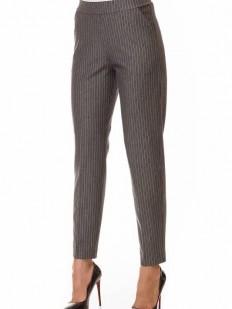 Женские брюки леггинсы в полоску прямого кроя в офисном стиле