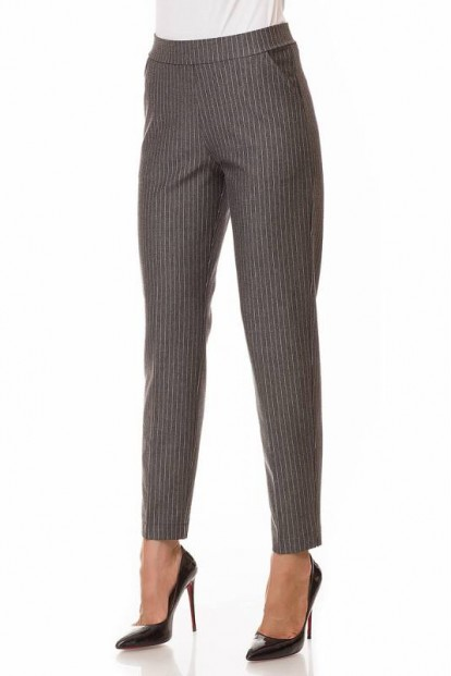 Плотные женские брюки легинсы прямого кроя в офисном стиле Giulia OFFI-STYLE 03 - фото 1