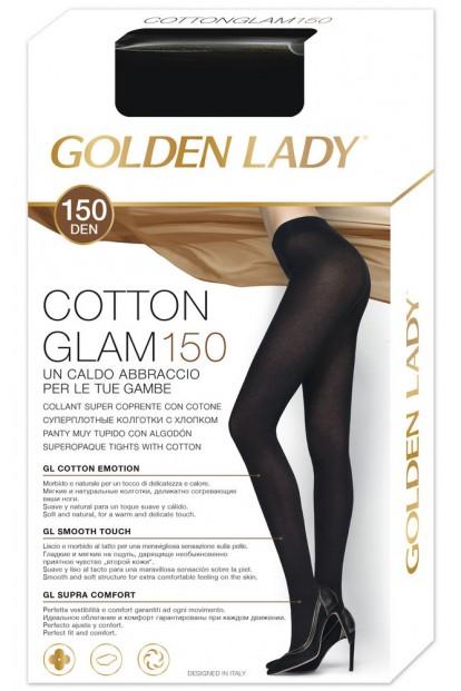 Теплые хлопковые колготки Golden Lady COTTONGLAM 150